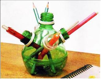 ideias-para-reciclar-garrafas-pet-porta-lapis