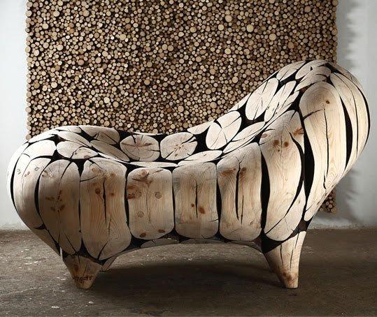 Troncos, palets y tablas para rústicos sillones y bancos: Ideas de ...
