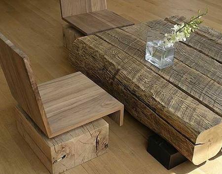 Mesa rustica madera cool mesa rustica madera y forja foto for Mesas antiguas rusticas