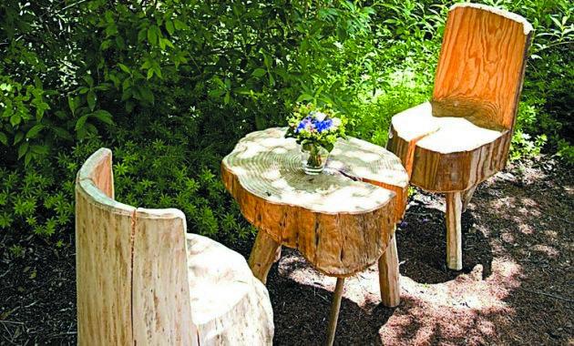 Troncos palets y tablas para r sticos sillones y bancos - Decoracion troncos madera ...