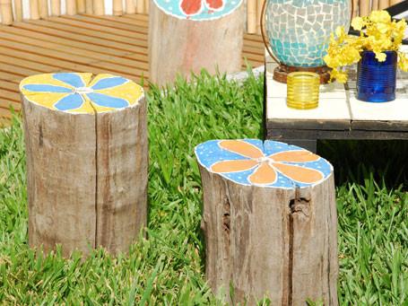 Troncos palets y tablas para r sticos sillones y bancos for Como puedo arreglar mi jardin