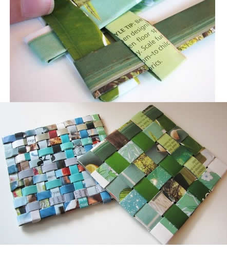 Ideas para hacer con papel reciclado dise os ecol gicos - Como hacer posavasos ...