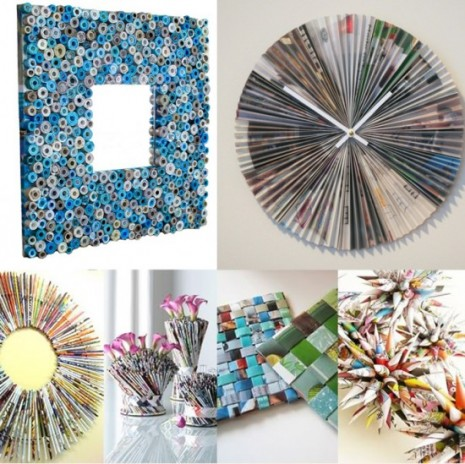50 marcos de espejos hechos con materiales reciclados - Hacer marcos para espejos ...
