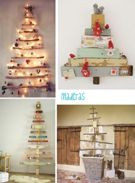 Rboles de navidad con materiales reciclados caseros - Arboles de navidad de madera ...