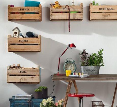 Ideas con palets para el living de 50 im genes de - Decoracion vintage reciclado ...
