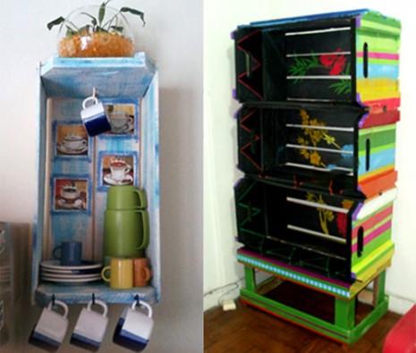 C mo reciclarar cosas usadas paso a paso ideas para - Estantes reciclados ...