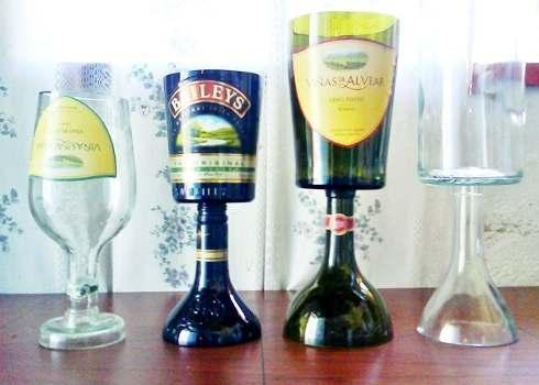 Ideas creativas para reciclar vidrio usos del vidrio - Que hacer con botellas de vidrio ...