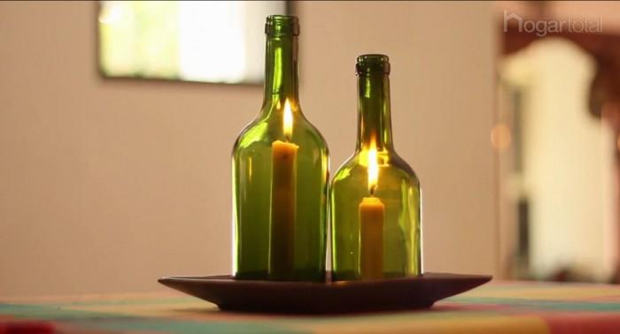 Ideas creativas para reciclar vidrio usos del vidrio - Botellas de vidrio para regalo ...
