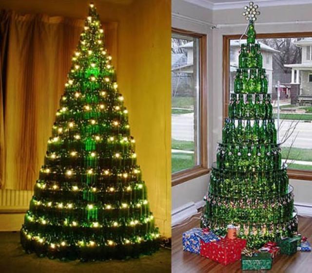 Rboles de navidad con materiales reciclados caseros - Como se adorna un arbol de navidad ...