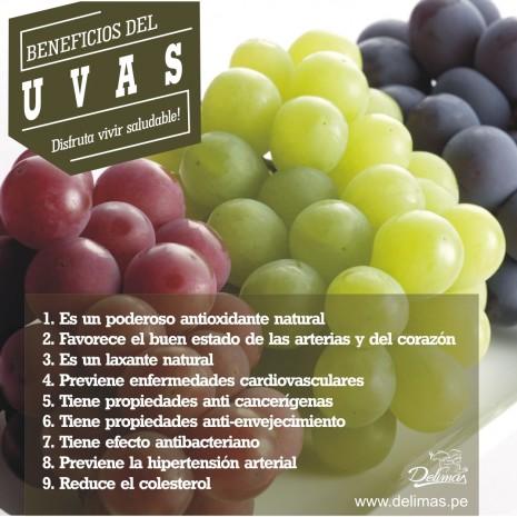 Beneficios uvas delimas