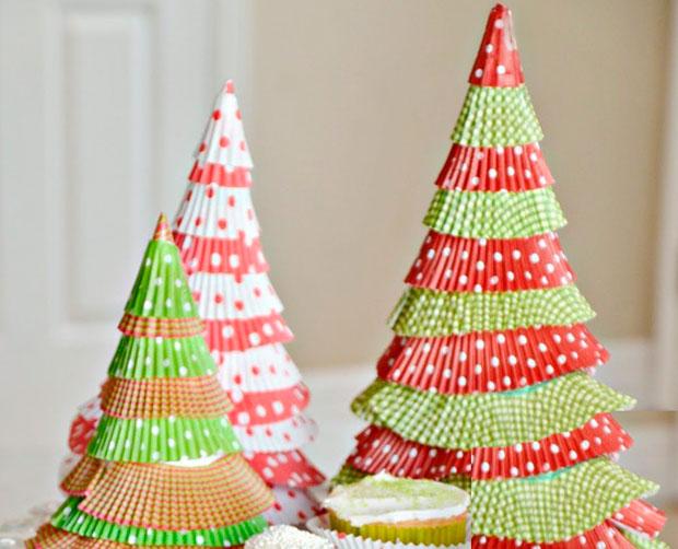Rboles de navidad con materiales reciclados caseros - Arboles de navidad de manualidades ...