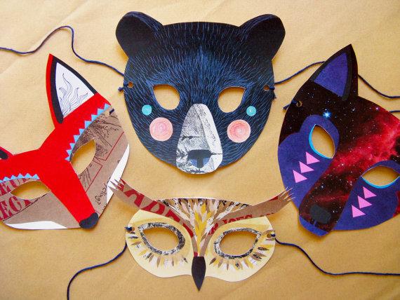 máscaras-de-aninmales-cómo-hacer-diseño-patrón-collage-5