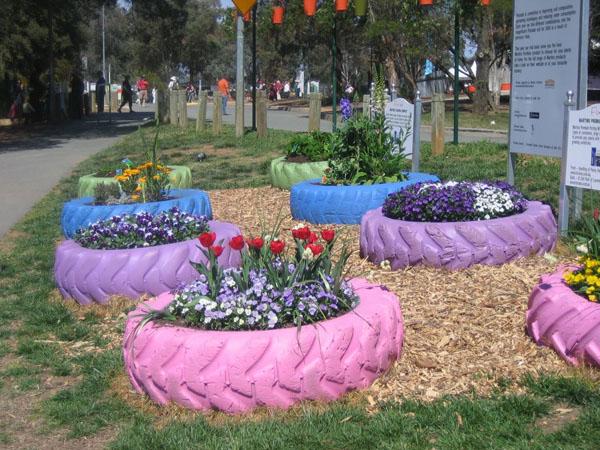 jardineras con neumticos grandes