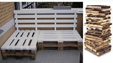 Palets reciclados para decorar tu parque o tu casa mil ideas ecolog a hoy - Reciclaje de palets de madera ...