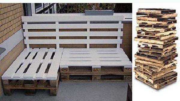 Palets reciclados para decorar tu parque o tu casa mil - Como reciclar palets ...
