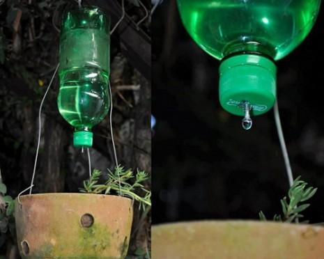 sistema-de-riego-casero-botella-orificio-tornillo-goteo