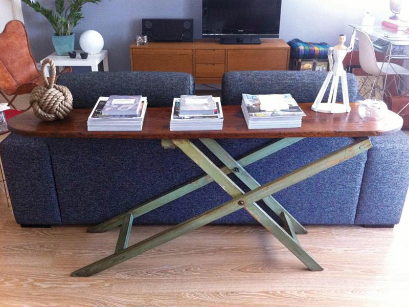 Recicla una tabla de planchar vieja ideas de que hacer for Como reciclar una mesa de tv