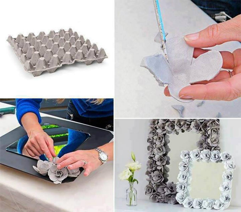 50 marcos de espejos hechos con materiales reciclados - Como hacer un marco de fotos original ...