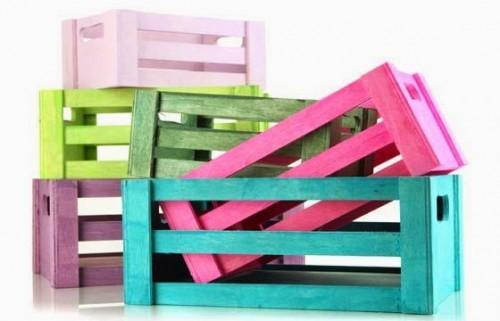 Reciclar cajones de verdura para guardar juguetes for Reciclado de placares