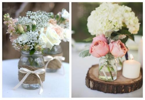 Centros de mesa para primera comunión con frascos de vidrio: ideas ...