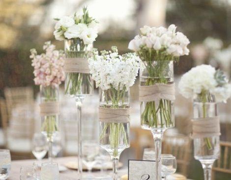 Centros de mesa para Primera Comunin con frascos de vidrio Ideas