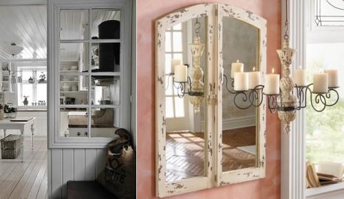 C mo reciclar y decorar con lo viejo ideas f ciles y for Espejos con puertas viejas
