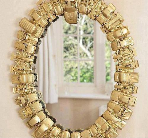 Decoracion de ba o con material reciclado - Hacer marco espejo ...