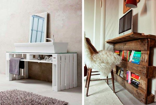 Muebles Para Baño Hechos Con Palets reciclando Palets 30 Ideas para