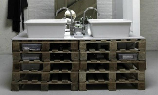 Muebles Para Baño Hechos Con Palets: reciclando Palets: 30 Ideas para baños con palets – Ecología Hoy