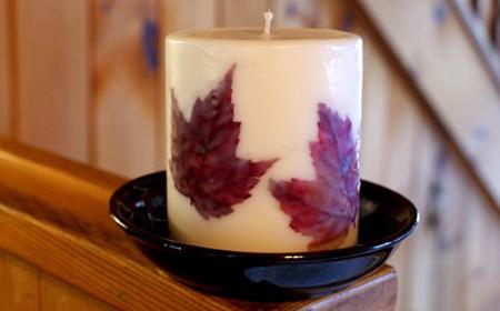 18 ideas con hojas secas c mo hacer hermosos portavelas y - Transferir fotos a velas ...