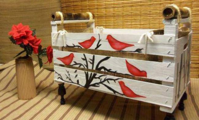 C mo decorar un caj n de verdura o fruta para reutilizarlo - Cajones de fruta de madera ...