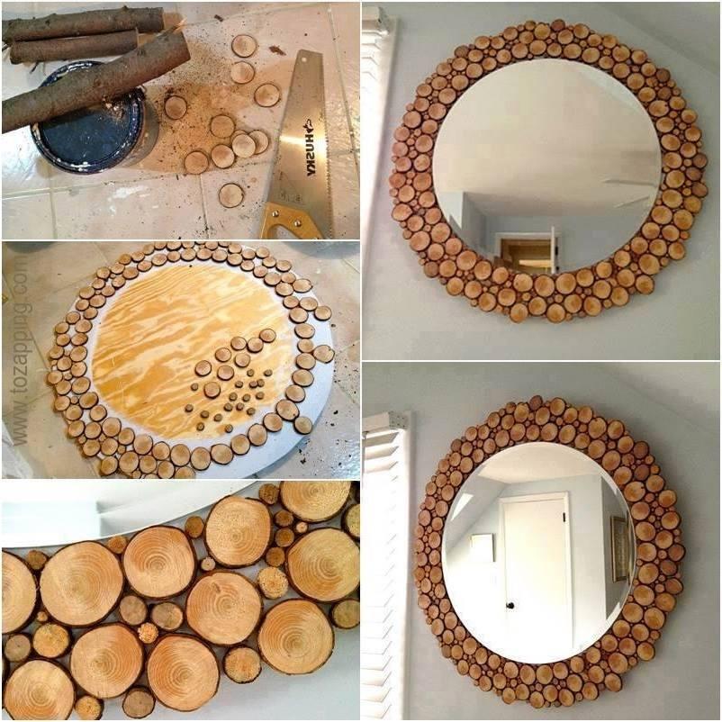 Marco de espejo reciclado con autos de juguete y otras for Espejos de pared con marco