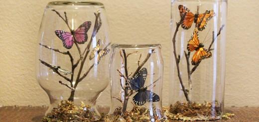 Reciclar frascos de vidrio centros de mesa hermosos para - Manualidades y bricolaje para el hogar ...