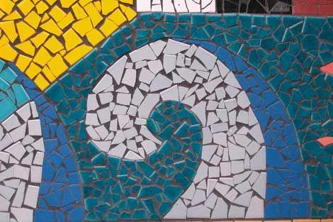 Mosaicos de pedaceria de ceramica