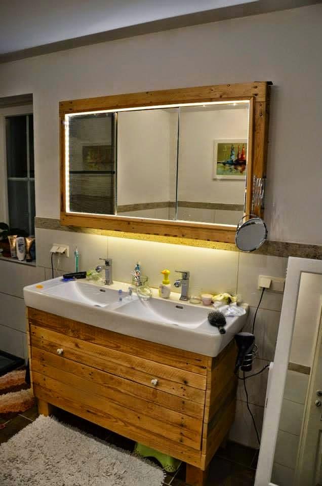 Muebles De Baño Reciclados:Ideas para decorar el baño con muebles de palets reciclados