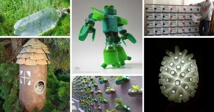 Imagenes con ideas para reciclar botellas de pl stico muy - Ideas para reciclar en casa ...