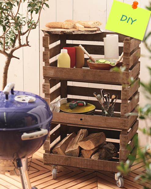 Ideas para decorar el ba o con muebles de palets for Mueble para plantas exterior