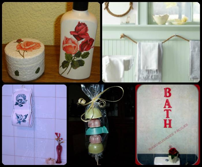 Ideas para hacer adornos con reciclaje para decoraci n for Decoracion adornos para el bano