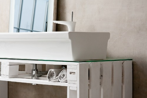 Ideas para decorar el baño con muebles reciclados con palets!