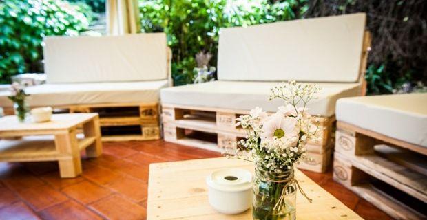 Reciclado de palets de madera fabulous jardines - Muebles chill out ...