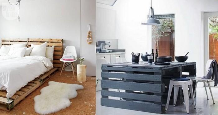 estar decorados con estos funcionales muebles con palets reciclados