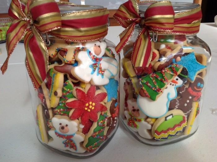 Frascos de vidrios reciclado para decorar en navidad 30 for Frascos decorados para navidad
