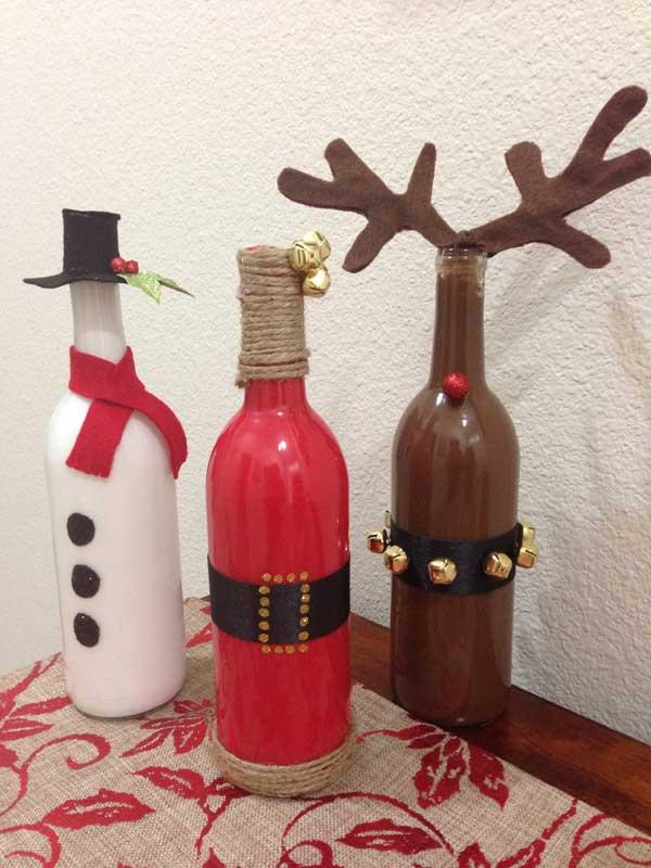 Frascos de vidrios reciclado para decorar en navidad 30 - Adornos para navidad 2015 ...