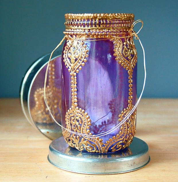 Frascos de vidrios reciclado para decorar en navidad 30 for Envases de vidrio decorados