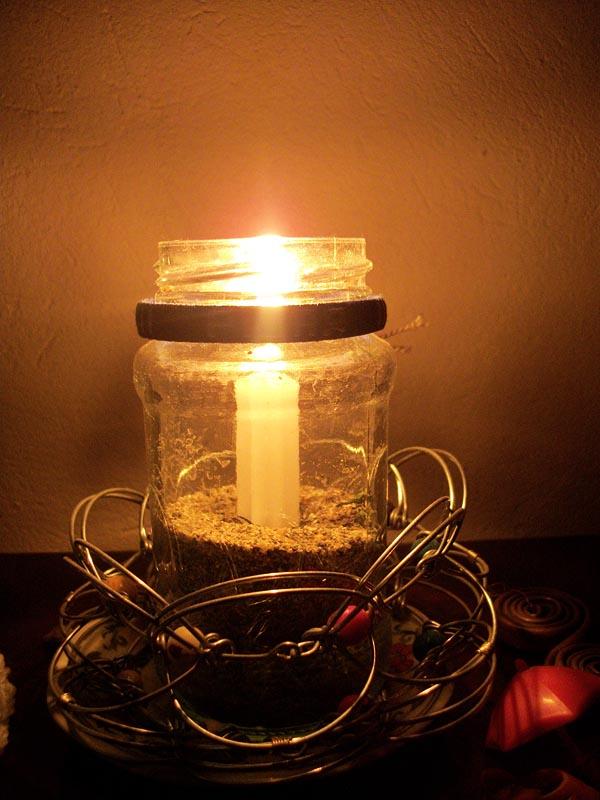 Frascos de vidrios reciclado para decorar en navidad 30 - Botellas con velas ...