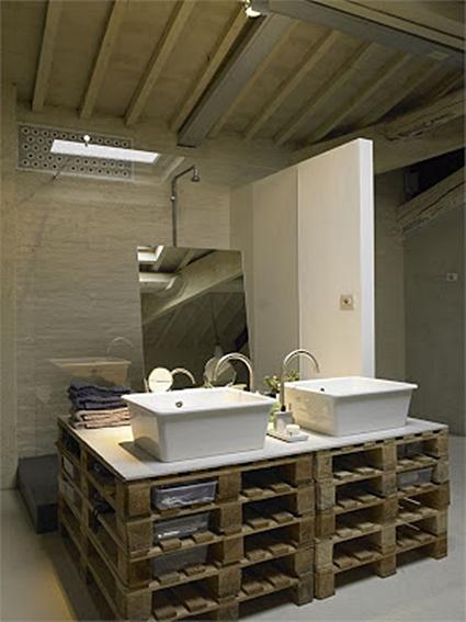 Ideas Para Decorar El Baño Reciclando:Ideas para decorar el baño con muebles de palets reciclados