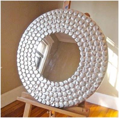 Ideas divertidas para realizar con aluminio reciclado for Hacer marco para espejo