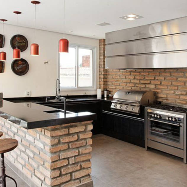 Barras rusticas para cocina - Cocina de ladrillo ...