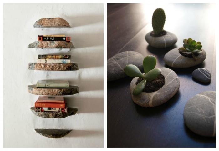 33 bonitas ideas para decorar la casa con piedras for Decoracion con piedra