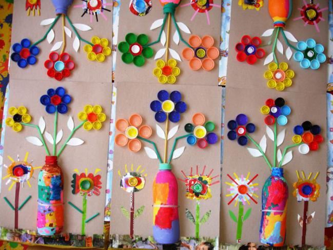 Ideas para hacer con tapitas de botellas recicladas - Ideas creativas para reciclar ...